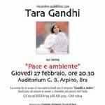 Tara Gandhi – nipote del Mahatma Gandhi – Pace e Ambiente